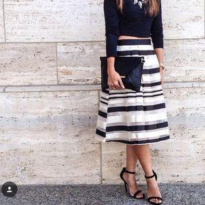 Lulu's black stripe skirt